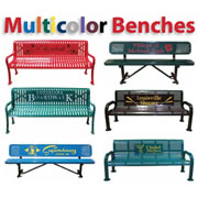Multicolor Personalized Benches
