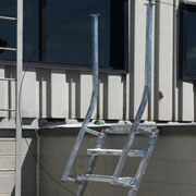 Never Jump Off a Parapet Again with the Ladderport Parapet Back Ladder System