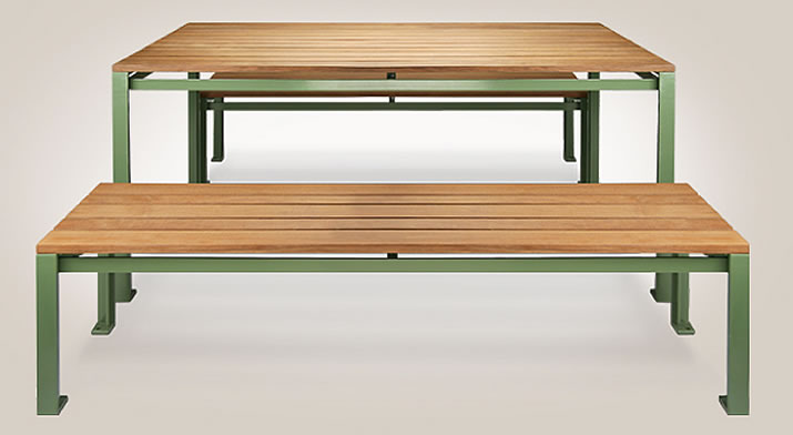 New designs from Victor Stanley: Camille Table & Benches
