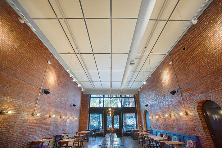 Nirmal Restaurant - Case Study: Feltworks Acoustical Panels are the perfect retrofit solution to control noise