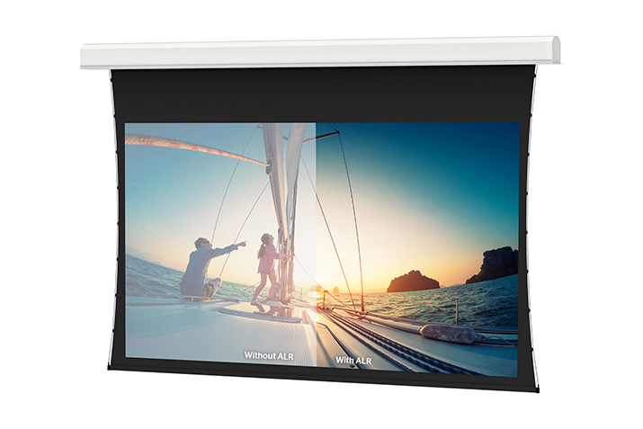 Offering the freedom to install seamless ALR screens up to 16 feet in height, Parallax Stratos is a Contrast Based ALR surface that rejects up to 80 percent of ambient light