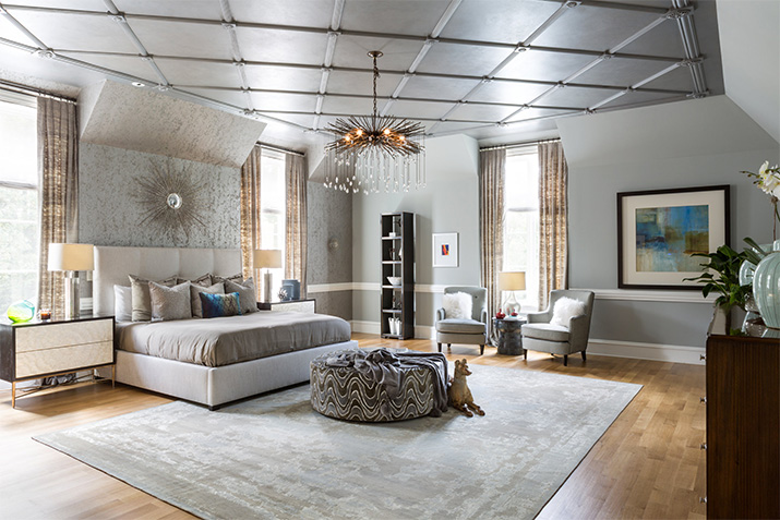 Painting a Bedroom to Look Like Polished Silver