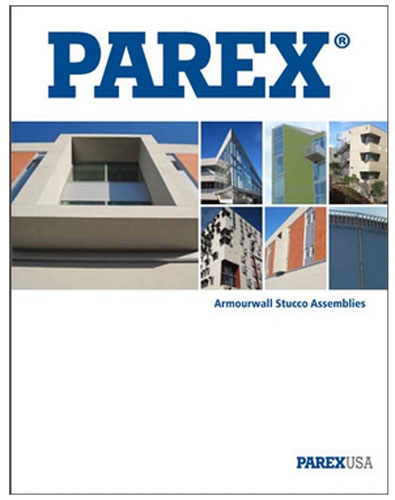 AECinfo.com News: Parex Updates the Armourwall Stucco Brochure to Include High Efficiency Assemblies