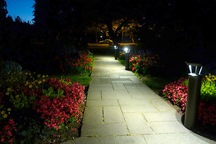 Pathway Illuminance: Hard-Wired vs. Solar Bollard Light Fixtures