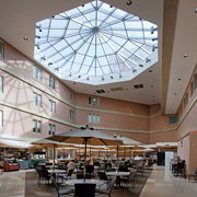 Pennsylvania's Crozer-Chester Medical Center's  40-foot-diameter skylight finished by Linetec