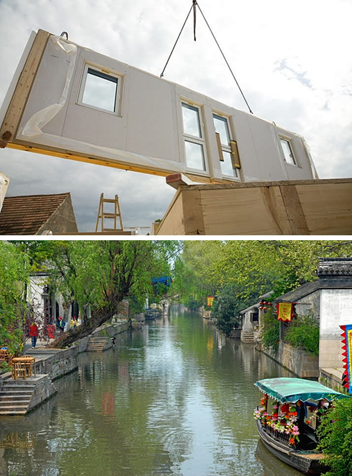 Prefab techniques can help you whether you're developing a mansion in the Midwest or a riverside home in Thailand.
