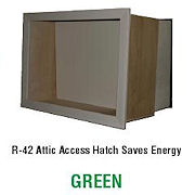 Product from Battic Door Energy Conservation Products: EZ Hatch Attic Access Door R-42