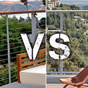 Railing Infill Face-Off: Cable vs. Glass