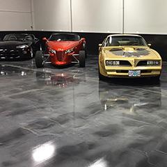 Reflector™ Enhancer floors featuring gunmetal and titanium