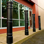 Reliance Foundry Co Ltd: Decorative Plastic Bollard Covers achieve the historical refinement of Cast Iron