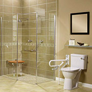 Roll in Handicapped AKW Shower System