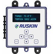 Ruskin® introduces TDP05K advanced thermal dispersion air measurement system measuring with industry-leading maximum 128 sensors