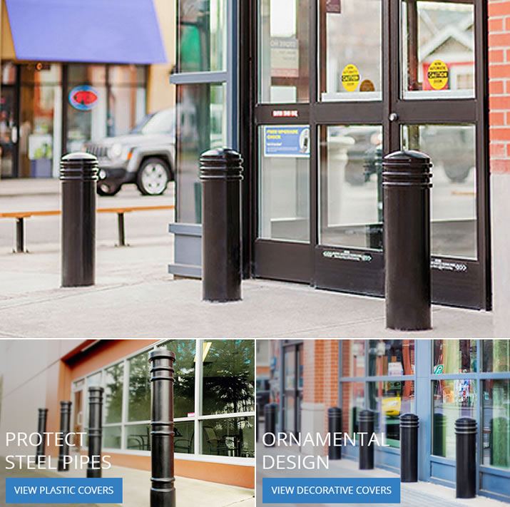 Safety Bollards Protect Storefronts