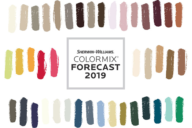 Sherwin-Williams Colormix® Color Forecast 2019