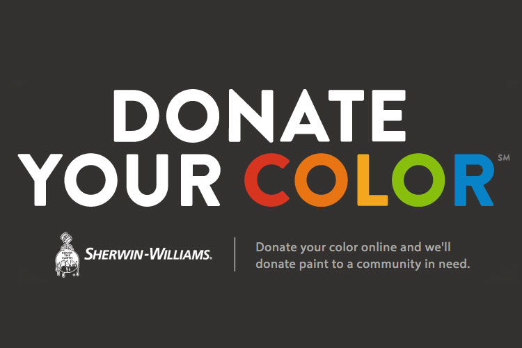 Sherwin-Williams converts digital color into fresh coats of paint for a good cause