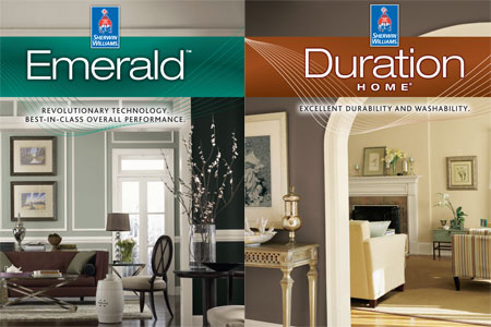Sherwin-Williams Emerald and Duration Home Paint Lines Now Available in Industry's First Cleanable True Flat Finish