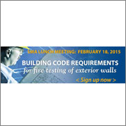 Sign up now for SMA Building Code Requirements for Fire Testing of Exterior Walls Lunch Meeting
