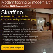 Skraffino from Duraamen: Modern flooring or modern art?