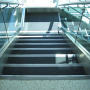Slip Resistant Stainless Steel Nosings Installed at Ameritech