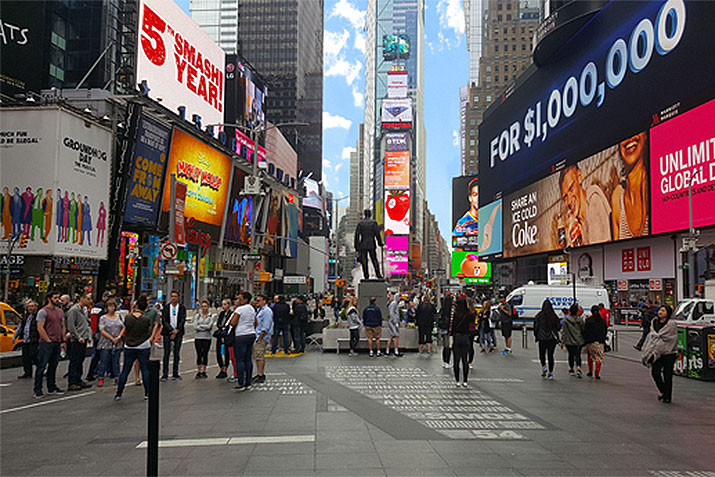Slipnot® provides slip resistance and aesthetic display for Times Square spotlight on Broadway project