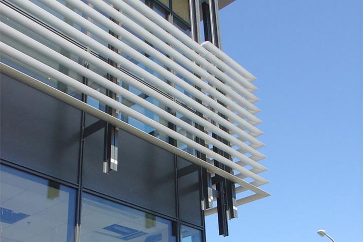 Solar shading systems: fixed & motorized louvers