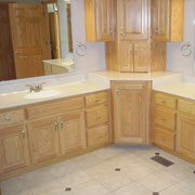 Solid Surface Bath Vanity Countertops, Accessories and Shower Doors