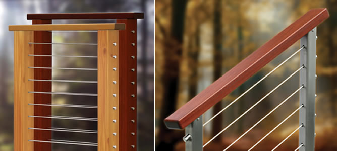 Cableview 174 Wood Cable Railing System From Stainless Cable