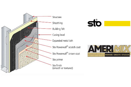 News sto corp launches joint warranty with for Amerimix stucco