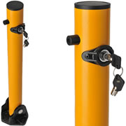 Stop unauthorized parking using Reliance Foundry's Fold-Down Bollards