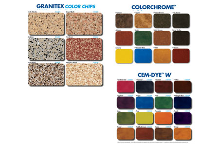 Super-Krete Products Introduces New Color Charts