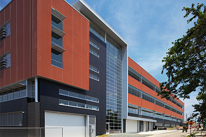 Terracotta Rainscreen Facades give Durham County Human Services Complex an urban presence