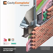 The CavityComplete™ Wall System for Steel Stud with Masonry Veneer