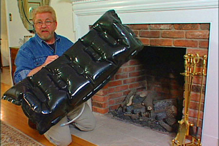 AECinfo.com News: The Fireplace Plug: A Draft Stopper For Your Chimney