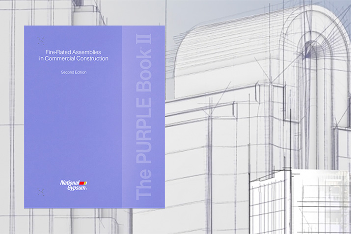 The PURPLE Book® II illustrates in detail how fire-rated gypsum assemblies intersect with other building components