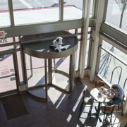 Uniquely Designed Chick-fil-A Welcomes Customers with a Boon Edam Revolving Door