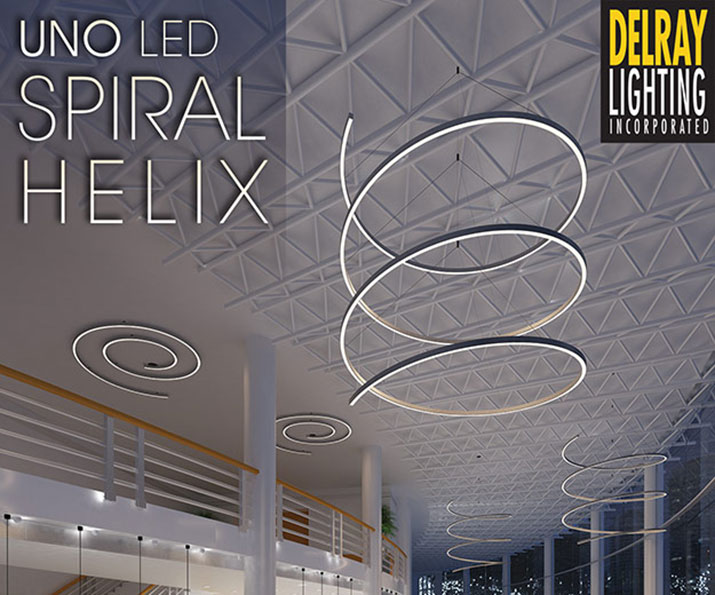 UNO Helix / Spiral large scale LED fixtures