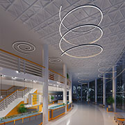 Uno Spiral and Helix LED Fixtures from Delray Lighting