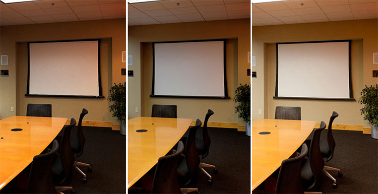 Updated projection screen science