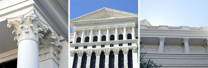 Upscale GFRC (Glass Fiber Reinforced Polymer) at Caesar's Palace on the Vegas strip