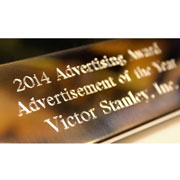 "Victor Stanley Inc. won Landscape Architecture Magazine's ""Advertisement of the Year"" 2014"