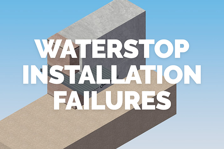 Waterstop: 10 Quality Assurance and Installation Failures