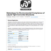 Waterstops for Environmental Compliance of Liquid Tight Concrete Structures