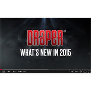 What's New in 2015 for Draper Projection Screens and Related Products