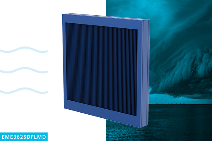 Wind-driven, rain resistant stationary louvers