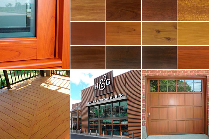 Wood grain finishes for aluminum