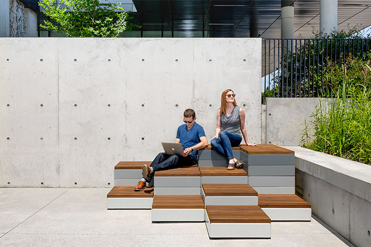 Maglin Site Furniture's new Pixel Collection is the perfect solution with its innovative and highly customizable line of modular site furnishings